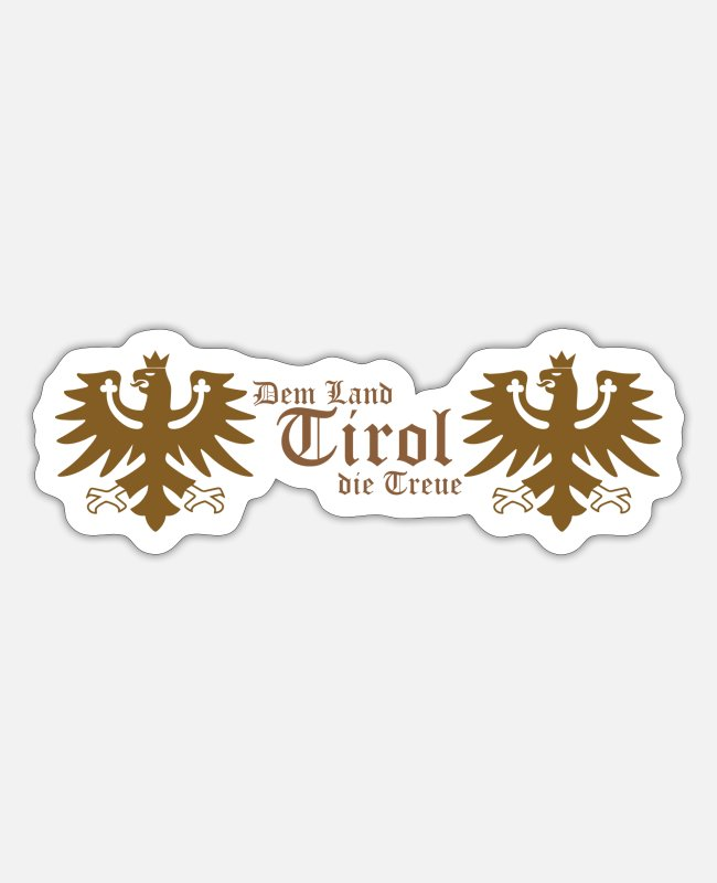 Alps Stickers - The land of Tyrol loyalty - Sticker white matte