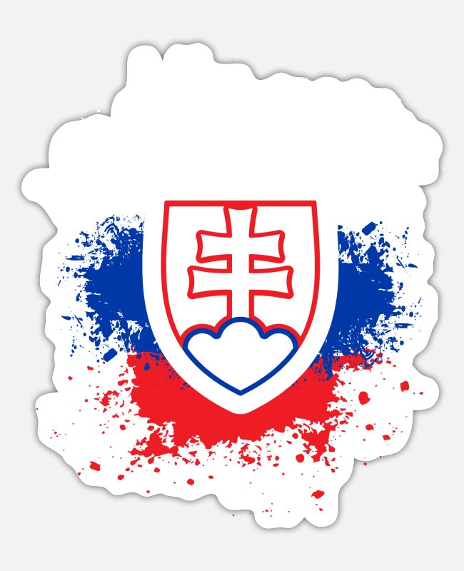 Czech Republic Stickers - Slovakia - Sticker white mat