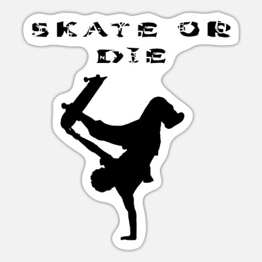 Stencil SKATE OR THE! Stencils design, stencil - Sticker