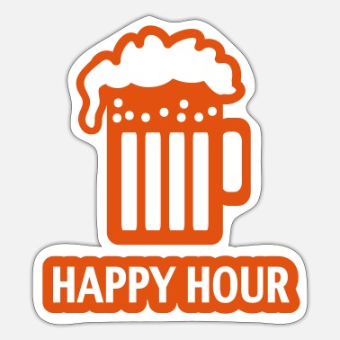 Glas HAPPY HOUR - BEER DRINKING - GLAS - PATRICK`S DAY - Sticker