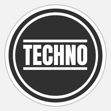 Techno Techno Circle Techno Merchandise Rave Afterhour - Sticker