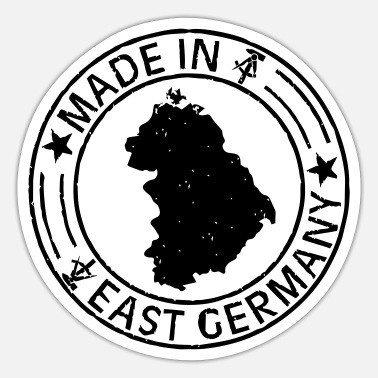 East Germany Made in East Germany stamp - Sticker