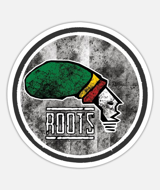 Rasta Sticker - real roots reggae - Sticker Mattweiß