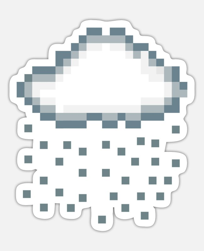 Rain Stickers - rain - Sticker white matte