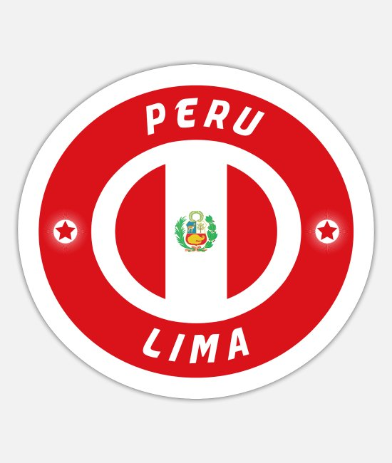 South America Stickers - Peru Lima / Flag Gift South America - Sticker white mat