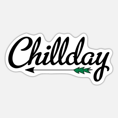 Chill chillen - Sticker