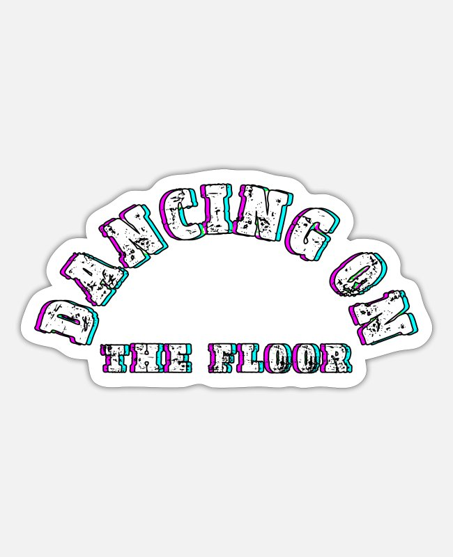 3D Stickers - Dancing dance floor - Sticker white mat