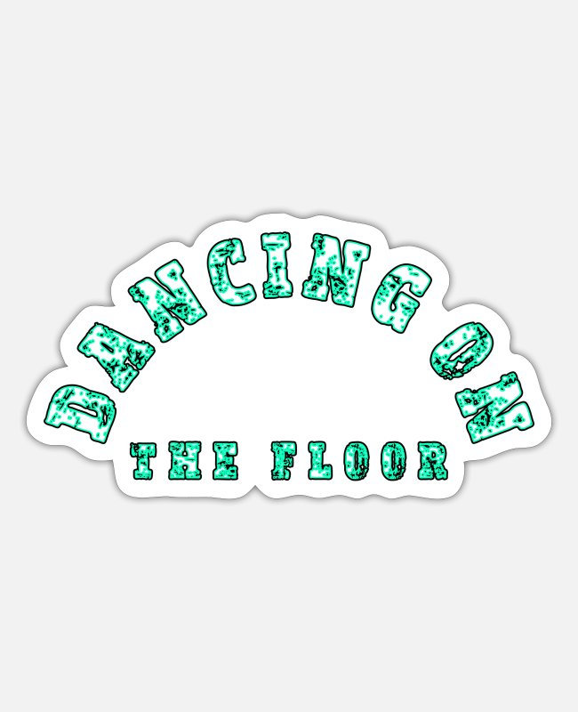 Area Stickers - Dancing floor - Sticker white mat