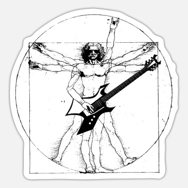 Elektrogitarre Da Vinci Heavy Metal Elektrogitarre - Sticker