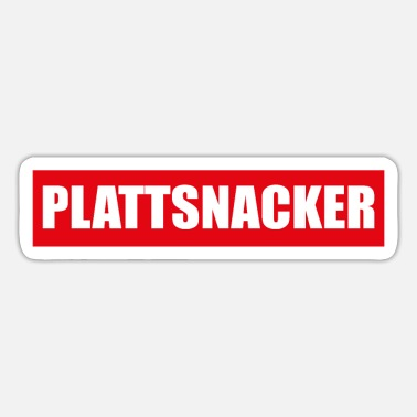 Low German Plattsnacker Low German North German Gift - Sticker