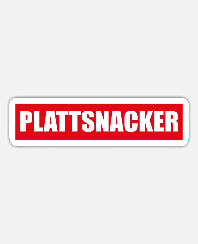 East Frisia Stickers - Plattsnacker Low German North German Gift - Sticker white matte