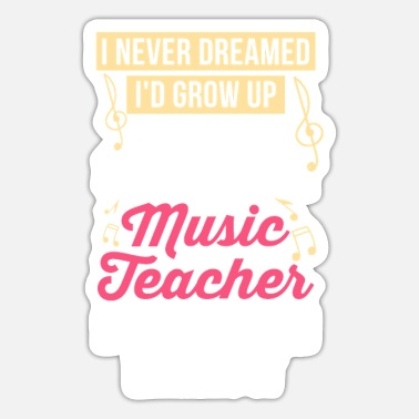 Recognition Music teacher music teacher recognition musician shirt - Sticker