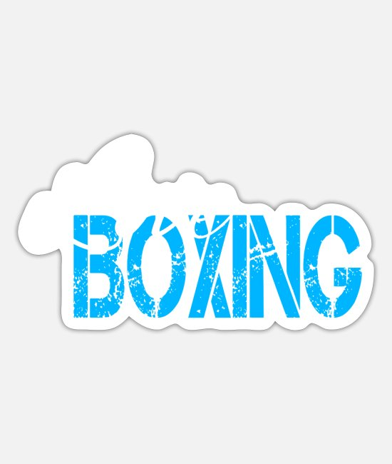 Fighter Stickers - boxing - Sticker white mat