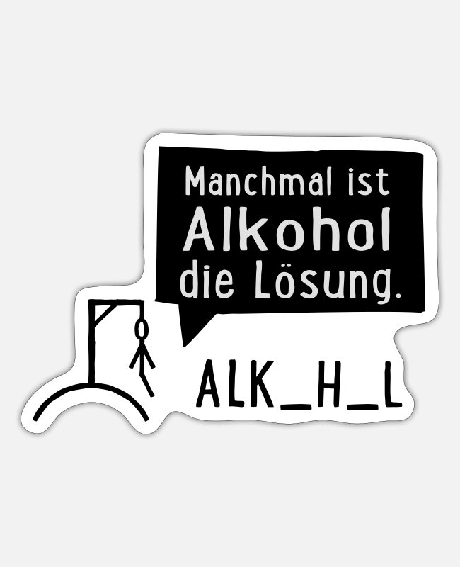 Drunk Stickers - Alcohol - Sticker white mat
