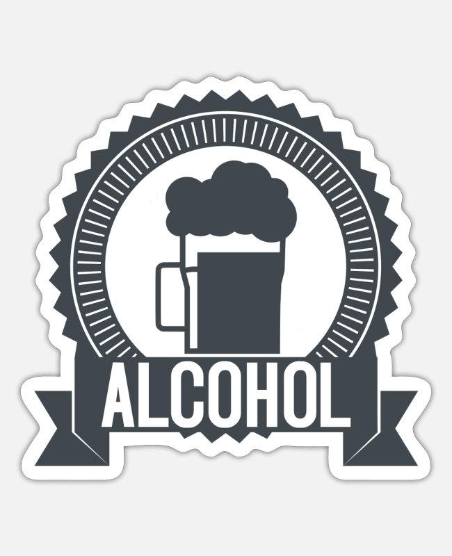 Grand Stickers - alcohol - Sticker white mat