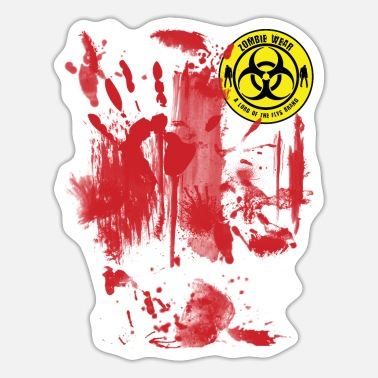 Wear Zombie Bloody Wear - Sticker