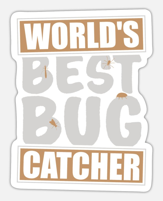 Nature Stickers - Insect collector shirt - Sticker white mat
