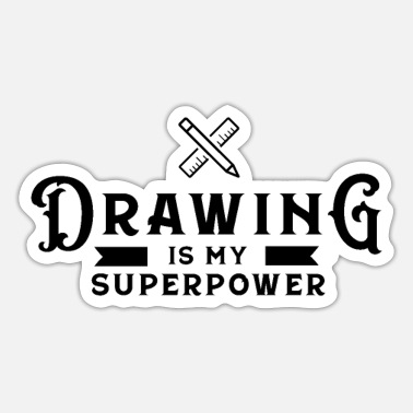 Drawing Drawing Drawing Draftsman drawing drawing - Sticker