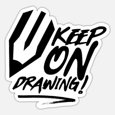 Drawing Drawing drawing paint drawing draftsman - Sticker
