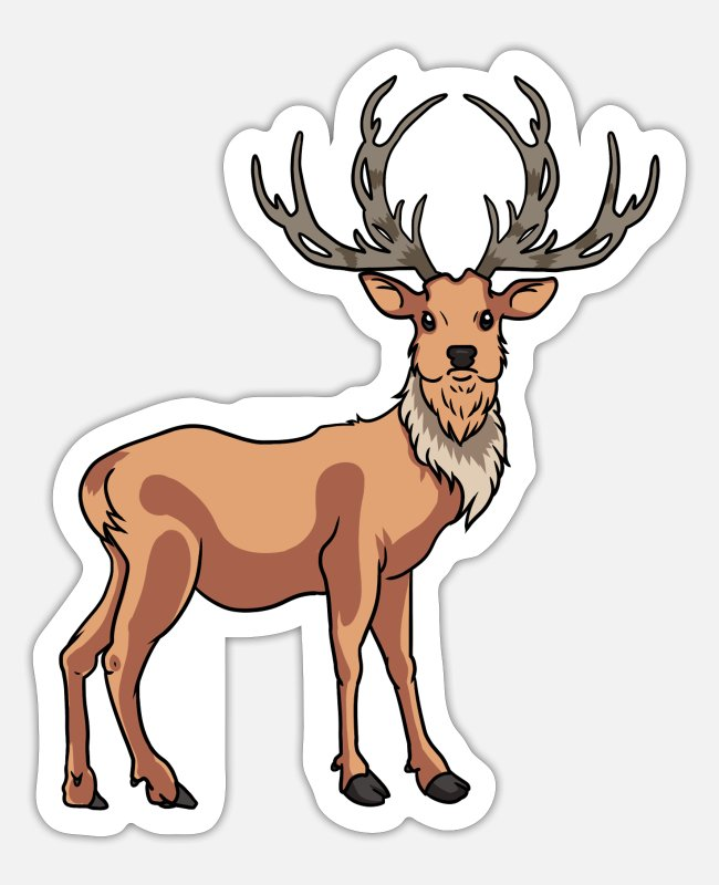 Stag Stickers - Epic stag - Sticker white mat