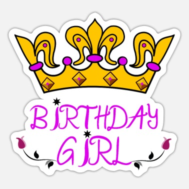 Birthday Birthday Girl - Sticker