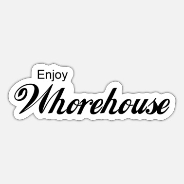 Brothel Enjoy Whorehouse Puff brothel I love I love - Sticker