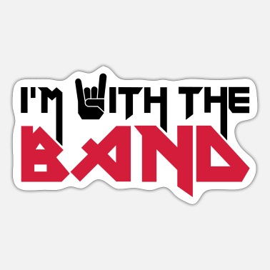 Band Ik ben met de band - Sticker