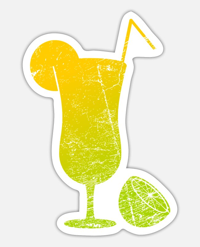 Lime Stickers - drink - Sticker white mat