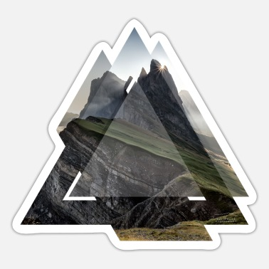 Dolomites Triangle geometry landscape Dolomites - Sticker