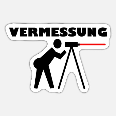 Geodät Vermessung cool Surveying Bau lustig Trend Geodät - Sticker