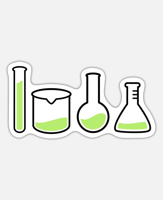 Drugs Stickers - laboratory equipment - Sticker white matte
