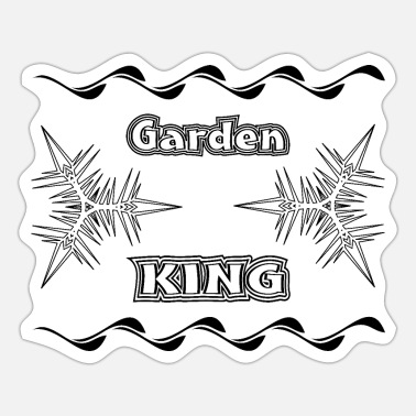 Plaice garden king black - Sticker