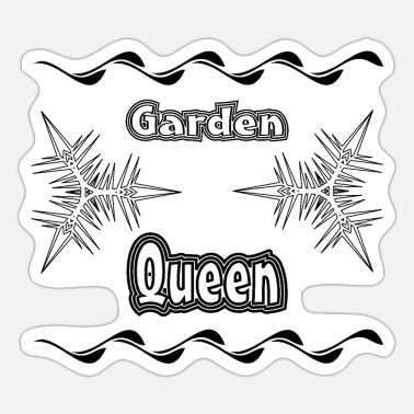 Plaice garden queen black - Sticker