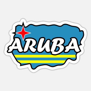 Country Aruba country and countries - Sticker