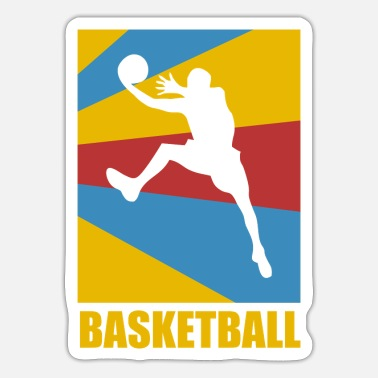 Rebound Slam Dunk Rebound Basketball Vintage Gift - Sticker