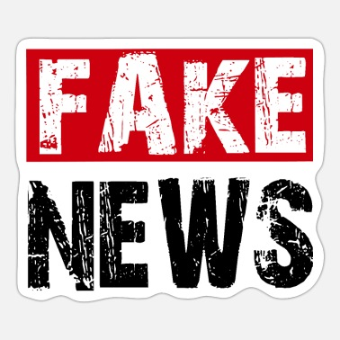 Fake FAKE NEWS, fake news shirts - Sticker