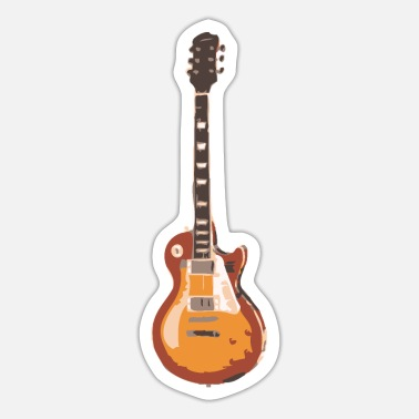 Guitar Electric Guitar Guitarist Les Paul Man Woman Gift - Sticker