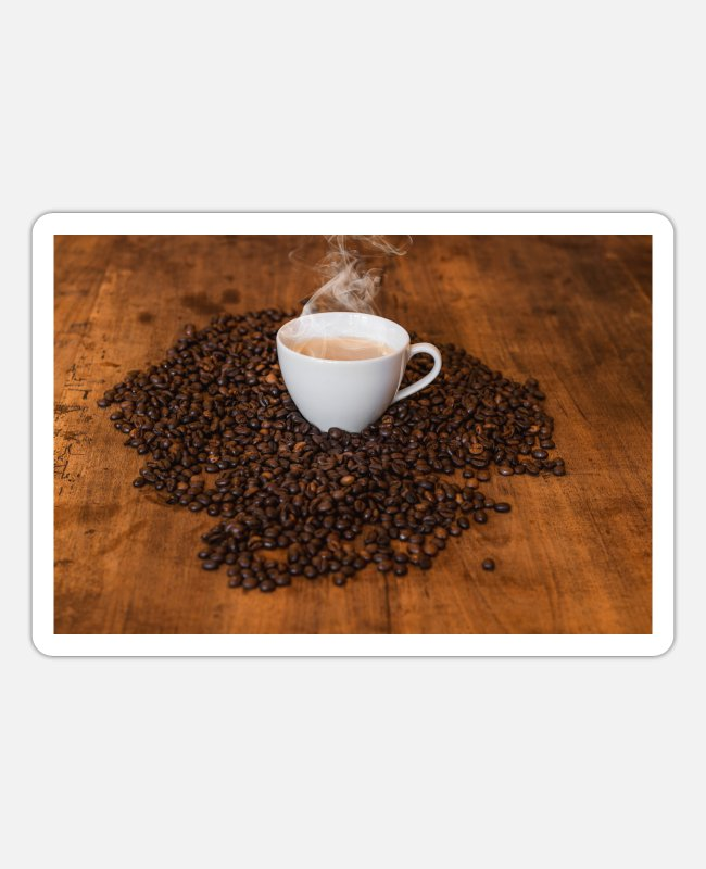 Coffee Bean Stickers - coffee - Sticker white matte