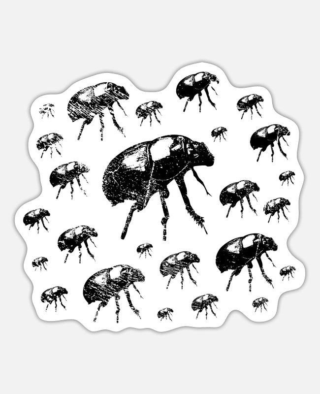Christmas Stickers - Stag beetle creeper insect - Sticker white mat