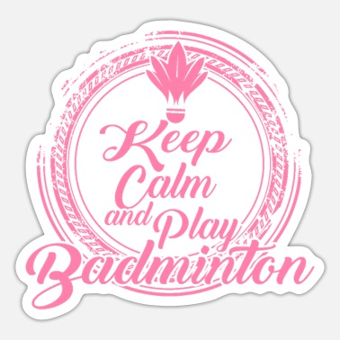 Net Badminton Badminton net - Sticker