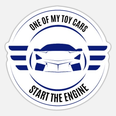 Starte Start the Engine - Starte den Motor - Sticker