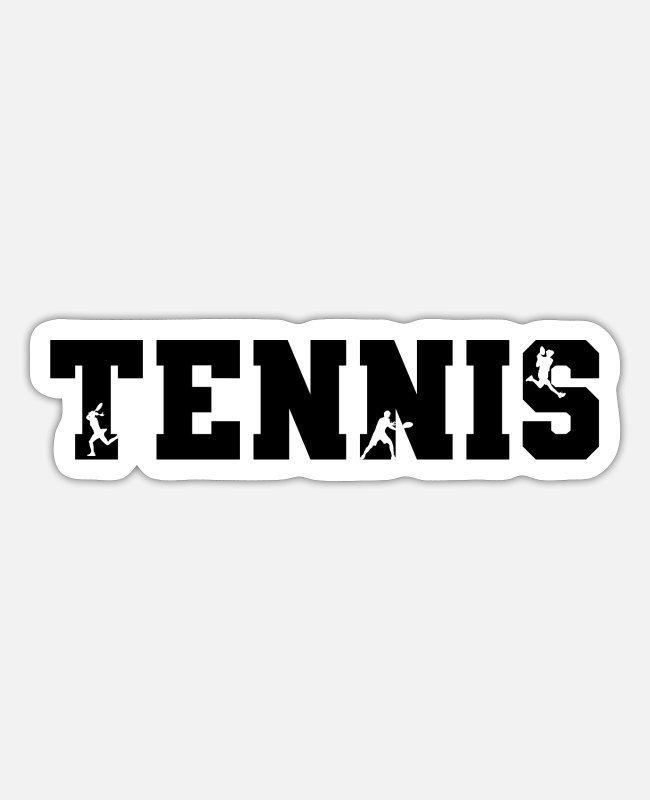 Tennis Racket Stickers - Tennis Match - Sticker white mat