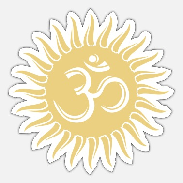 India Goa Trance Om Sonne, Buddhismus, spirituell, Yoga, Meditation - Sticker