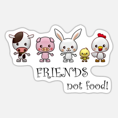 Friends Friends not food - Sticker
