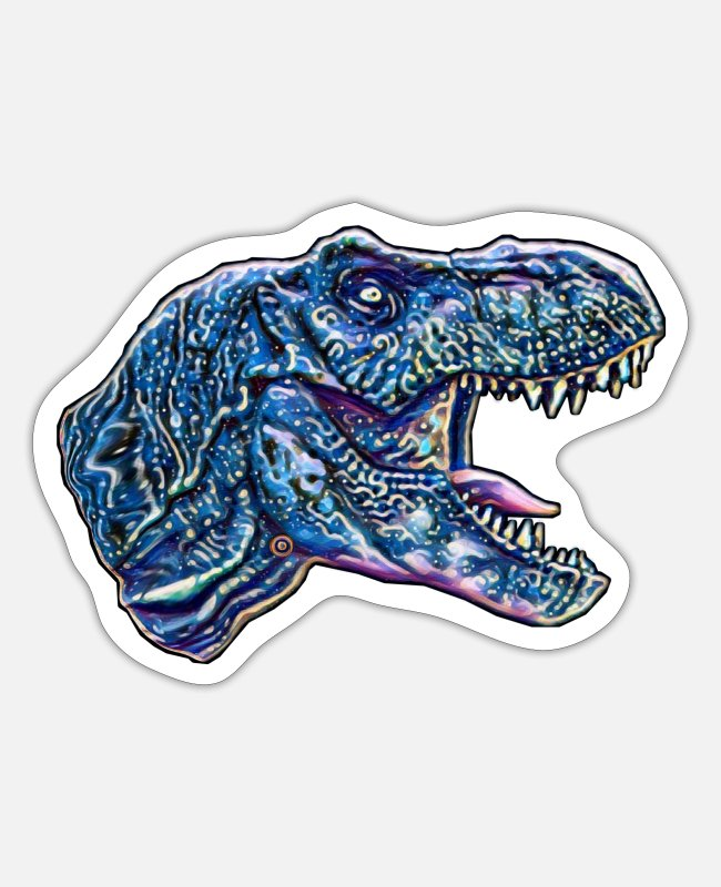 Motive Stickers - T-Rex - Sticker white mat
