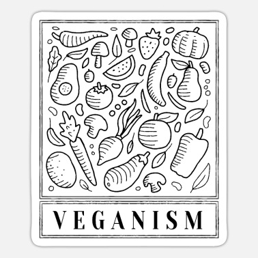 Vegetarian Vegan - Vegetarian - Vegetarian - Sticker