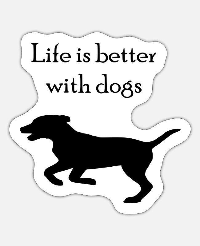Dog Owner Stickers - Dog saying - Sticker white matte