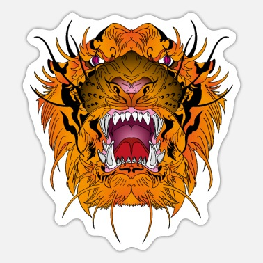 Tiger Tiger Tiger Head - Sticker