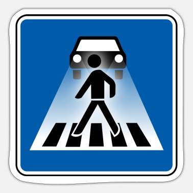 Autonaut Road sign driving license zebra crossing car - Sticker