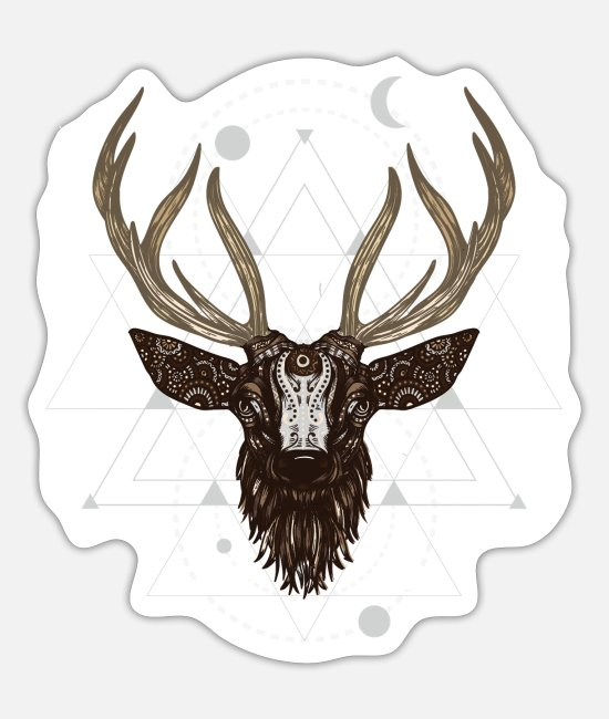 Stag Stickers - Stag Astral - Sticker white mat